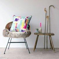 Hockney Velvet Fringed Cushion