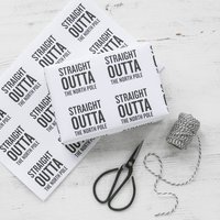 Straight Outta The North Pole Christmas Wrapping Paper