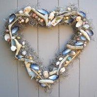 Beachcomber Heart Wreath Wedding Home Wall Decoration