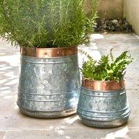 Zinc And Copper Patio Planter