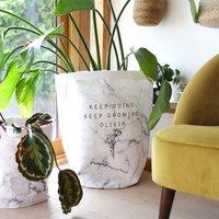 Personalised 'Keep Going, Keep Growing' Storage Sack