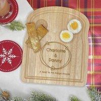 Personalised Couples Toast Breakfast Board