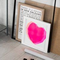 Two Hearts Stencil Print