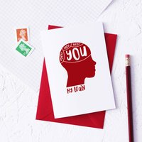 Funny Phrenology Valentines Day Card