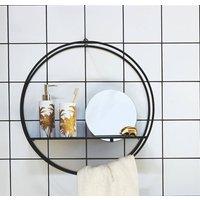 Circular Bathroom Shelf With Mirror