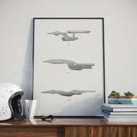 Iconic Star Trek Spaceship Collection Print