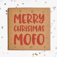 Merry Christmas Mofo Square Card
