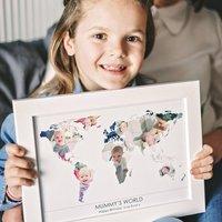 Personalised Mummy's World Photograph Map
