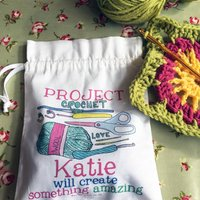 Personalised Craft Project Bag