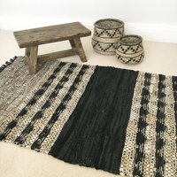 Leather Artisan Woven Rug
