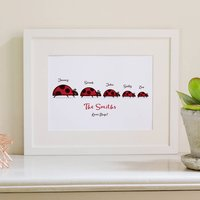 Ladybird Personalised Family Print