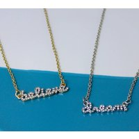 Believe Dream Crystal Message Necklace