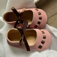 Rosa Ribbon Suede Baby Shoes With Keepsake Box