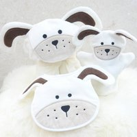 Personalised Playful Puppy Baby Towel Gift Set