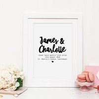 Personalised 'Happily Ever After' Wedding Print