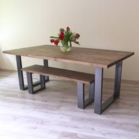 Holborn U Shaped Legs Reclaimed Wood Dining Table