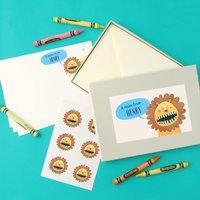 Personalised Boy's Notecards Writing Set
