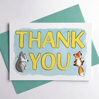 Woodland Animals Thank You Card