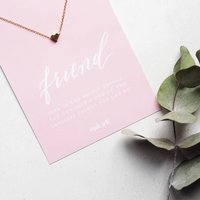 Friend Necklace And Keepsake Card