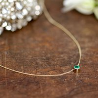 Gold Elphaba Emerald Necklace, Gold