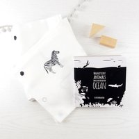 Monochrome Swaddle Blanket Plus Choice Of Board Book