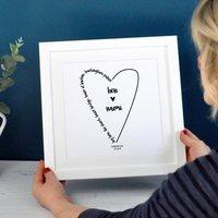 Personalised Wedding Words Or Song Print