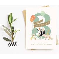 3rd Birthday Farmyard Animals Card