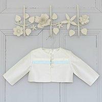 Harry Boys Ivory Or White Silk Christening Jacket, Ivory/White