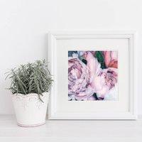Unframed Full Bloom Pink Peonies Print