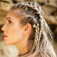 Gold Hair Rings Multiple Charm Options