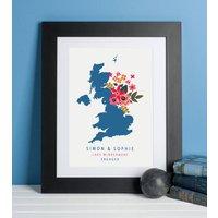 Personalised Floral Map Print