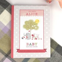Personalised Nursery Rhyme And Record Book Pink
