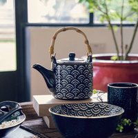 Japanese Inspired Teapot With Bamboo Handle