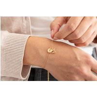 Gold Plated Zodiac And Initial Bracelet, Gold