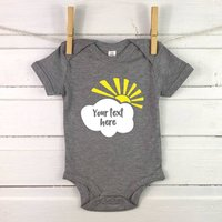 Personalised Sun And Cloud Baby Vest