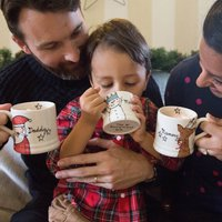 Set Of Christmas Mugs Personalised For The Family