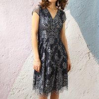 Occasion Dress With Delicate Scalloped Edged Hem