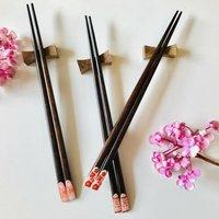 Tokyo Cherry Blossoms Wooden Chopsticks And Rest