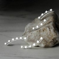 Sterling Silver Star Ear Climbers, Silver