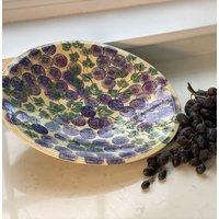 Grape Design Handmade Ceramic Serving Platter