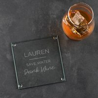 Funny Personalised Coaster Save Water Drink Beer