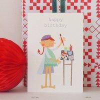 Artist Birthday Card