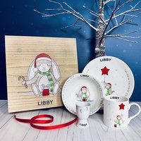 Personalised Christmas Breakfast Set And Christmas Box