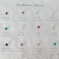 Add Your Own Semi Precious Faceted Birthstone Charm