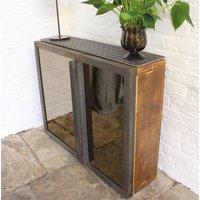 Fiona Asymmetric Mirrored Door Reclaimed Wood Hall Unit
