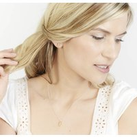 Sterling Silver Golden Shell Necklace And Earring Set, Silver