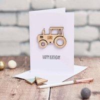 Personalised Tractor Keepsake Card