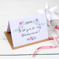 Personalised Will You Be My Bridesmaid? Wedding Card