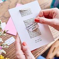 Book Page Mini Envelope Best Mum Card
