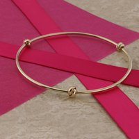 9ct Gold Love Knot Bangle, Gold